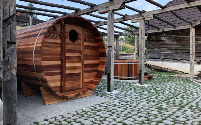 Sauna a kúpacia kaďa Saibot v Rohožníku