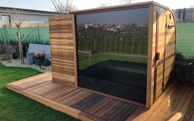 Panoramatická sauna Saibot v Záborskom