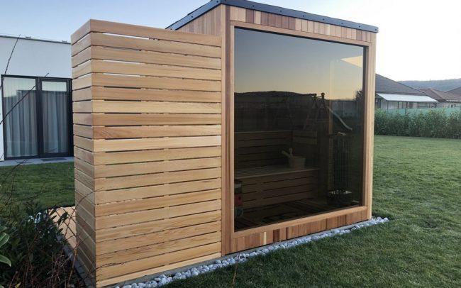 Saibot panoramatická sauna céder