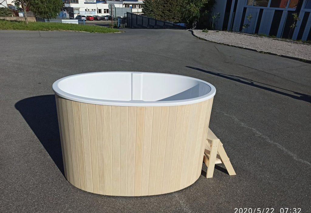 Ochladzovacia kada ku saune Saibot Standart++, biela osika