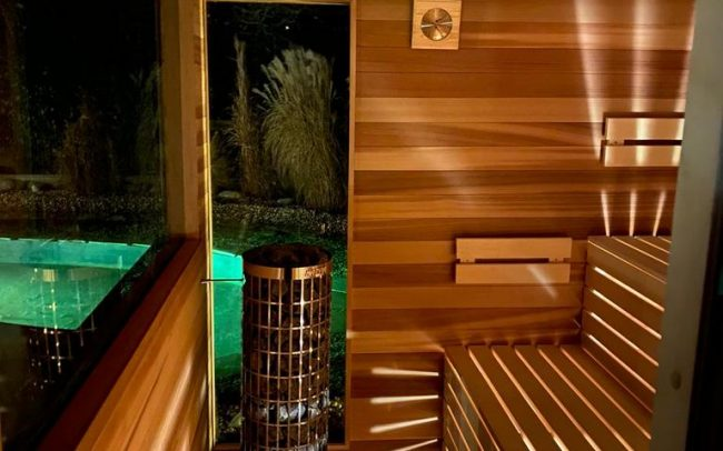 Panoramatická sauna Saibot s oddychovou miestnosťou