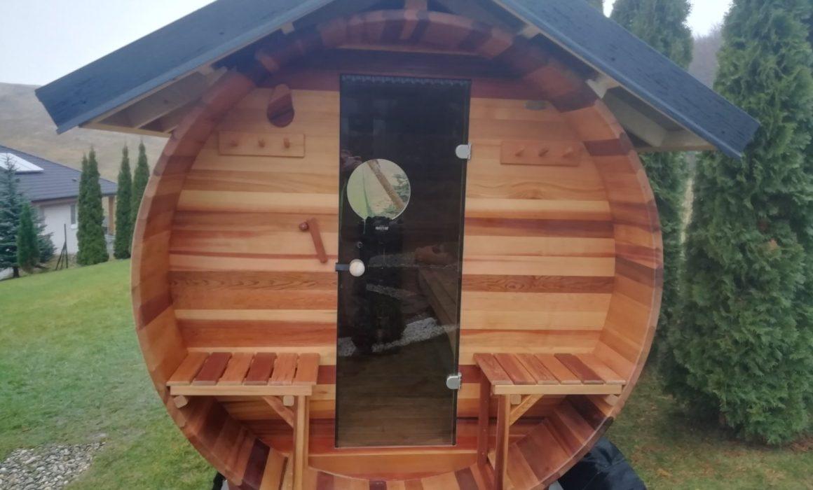 Sudová fínska sauna Saibot - kanadský červený céder